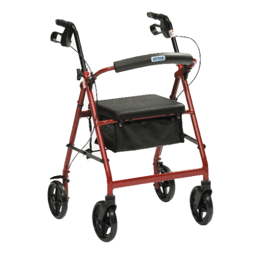 Walking frame with seat and wheels for seniors or rehabilitating